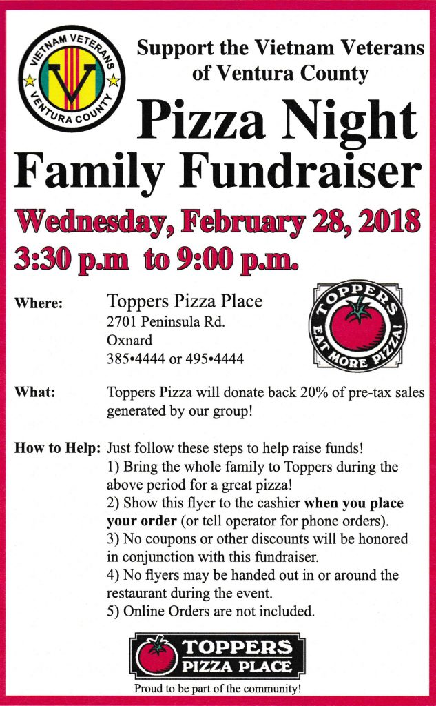 Family Fundraiser - Wednesday, February 28, 2018 from 3:30pm to 9:00pm