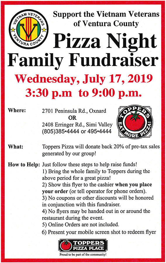 Toppers Fundraiser 7/17/2019